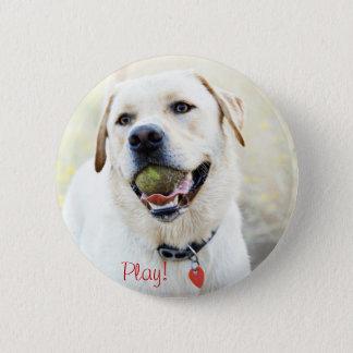 Play Dog Pinback Button