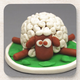 Play Dough My Sheep Beverage Coaster