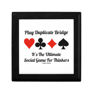 Play Duplicate Bridge It's Ultimate Social Game Jewelry Boxes