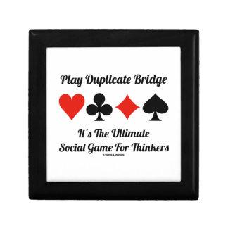 Play Duplicate Bridge It's Ultimate Social Game Jewelry Box