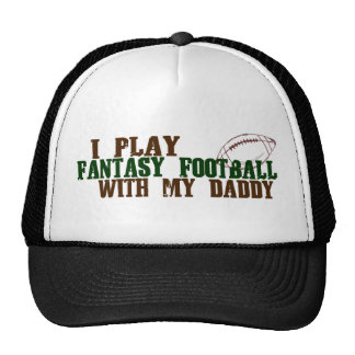 Play fantasy footbal with daddy trucker hat