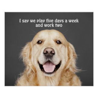 PLAY FIVE DAYS A WEEK POSTER