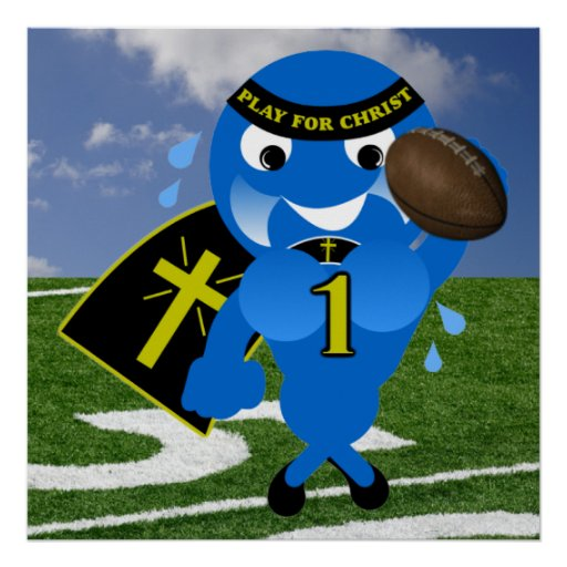 Play For Christ Football Poster