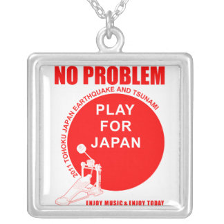 PLAY FOR JAPAN SQUARE PENDANT NECKLACE