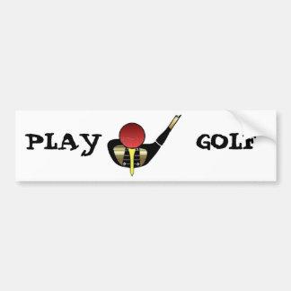 Play Golf Car Bumper Sticker