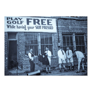 Play Golf Free (While Having Your Suit Pressed) Card