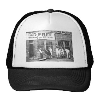 Play Golf Free (While Having Your Suit Pressed) Mesh Hats