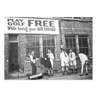 Play Golf Free (While Having Your Suit Pressed) Large Business Card