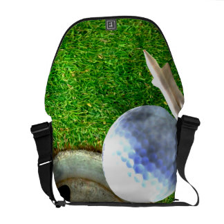 Play Golf Grunge Style Courier Bag