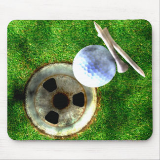 Play Golf Grunge Style Mouse Pad