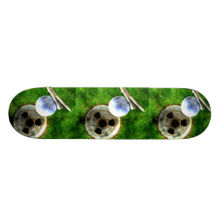 Play Golf Grunge Style Skateboard