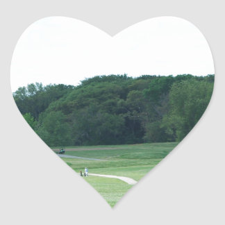 Play Golf Heart Stickers