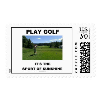 Play Golf It's The Sport Of Sunshine (Golf Course) Postage
