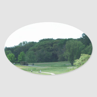 Play Golf Oval Stickers