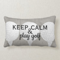 play golf quote for golfers gray and white lumbar pillow