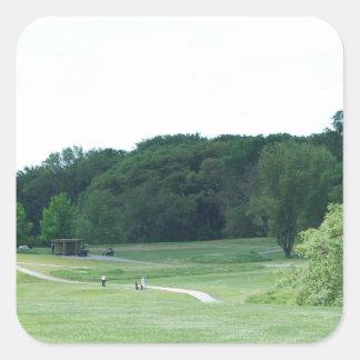 Play Golf Square Sticker