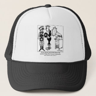 Play Gramophone Records Backwards Trucker Hat