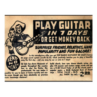 Play Guitar In 7 Days Postcard