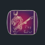 """Play Guitar Pick Tin<br><div class=""""desc"""">This design is from my 2013 collection. I think that this would go nicely with an order of my custom guitar picks. After you eat the candy they can hold your picks :)</div>"""