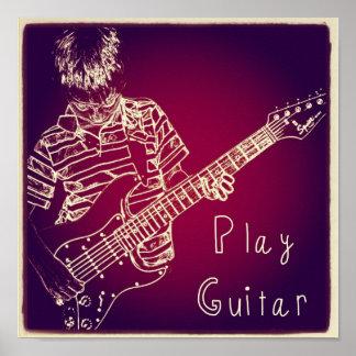 """Play Guitar"" Poster"