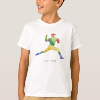 Play Hard Baseball Origami T-Shirt