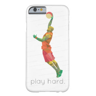 Play Hard Basketball Origami Barely There iPhone 6 Case