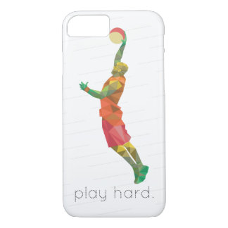 Play Hard Basketball Origami iPhone 8/7 Case