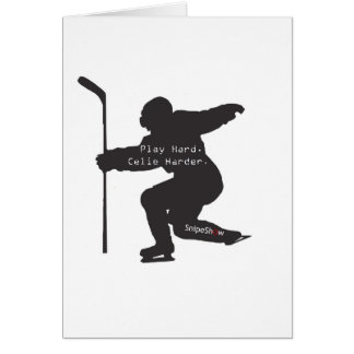 Play Hard. Celie Harder. Greeting Card