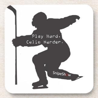 Play Hard. Celie Harder. Coaster