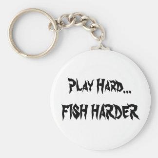 Play Hard...FISH HARDER kEY CHAIN