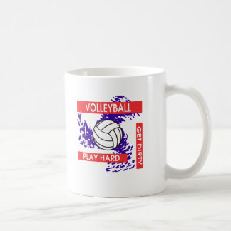 Play Hard Get Dirty Volleyball Coffee Mug