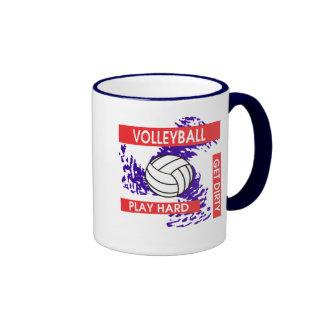 Play Hard Get Dirty Volleyball Mugs