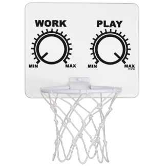 Play hard mini basketball backboards