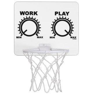 Play hard mini basketball hoop