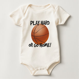 Play Hard or Go Home Basketball Baby Bodysuit
