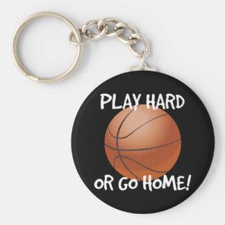 Play Hard or Go Home Basketball Keychain