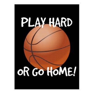 Play Hard or Go Home Basketball Postcard