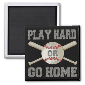 Play Hard or Go Home 2 Inch Square Magnet