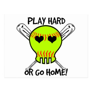 Play Hard or Go Home! Postcard