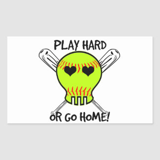 Play Hard or Go Home! Rectangular Sticker