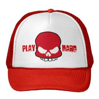 play Hard - red Mesh Hats