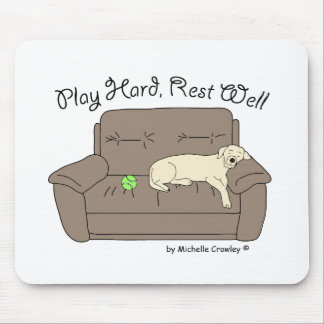 play hard rest well mouse pad