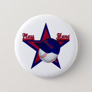 Play Hard Softball and Hat BUTTON