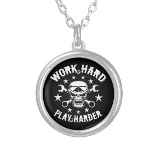 Play Harder Silver Plated Necklace