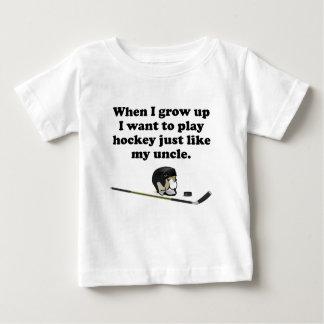 Play Hockey Like My Uncle Baby T-Shirt