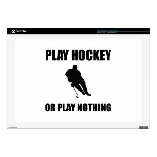 Play Hockey Or Nothing Decals For Laptops