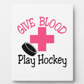 Play Hockey Plaque