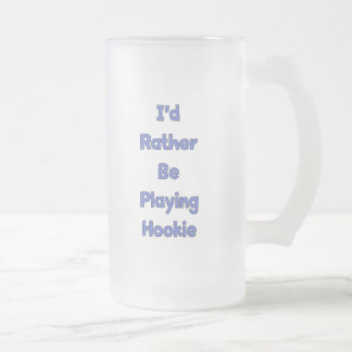 Play Hookie Frosted Glass Beer Mug