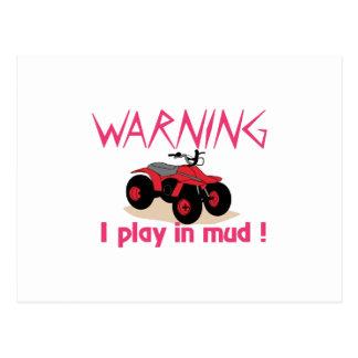 Play In Mud Postcard