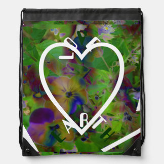 Play In Paint LOVE EARTH Drawstring Backpack
